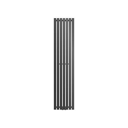 ECD Germany Radiador Panel Stella Design - 370 x 1600 mm - Antracita - Radiador toallero para baño - Toalleros de agua para la calefaccion