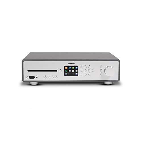 sonoro Maestro HiFi Receiver mit CD-Player, Internetradio & Bluetooth (UKW/FM, WLAN, DAB/DAB+, Spotify, Tidal, Amazon, Deezer, Napster) Matt Graphit