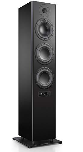 Nubert nuPro A-700 Standlautsprecher | Lautsprecher für Stereo & Musikgenuss | Heimkino & HiFi Qualität auf hohem Niveau | aktive Standbox mit 3 Wege Technik | Standbox Schwarz | 1 Stück