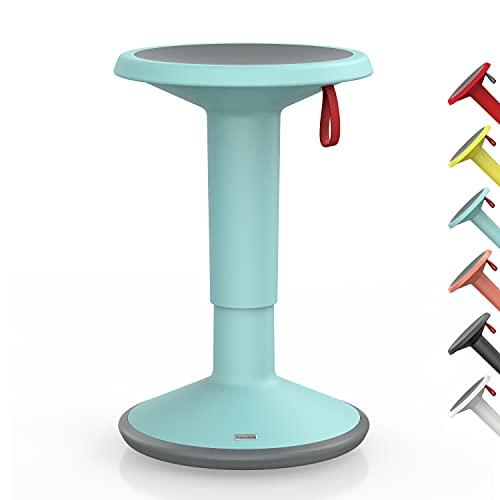 Interstuhl UPis1 – ergonomischer Sitzhocker mit Schwingeffekt – für einen geraden Rücken Made in Germany – inkl. 10 Jahren Garantie (Pastelltürkis, Standard Edition)