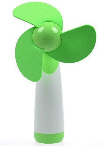 FAS1 Mini Ventilador Portátil Abanico AA Pilas Poder Super Mute Handheld Ventilador para El Hogar, La Oficina y El Viaje - Batería No Incluida - Verde
