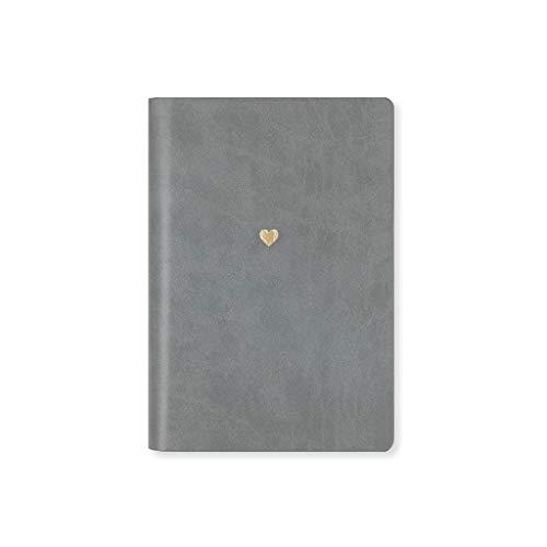 HJHJ Cuadernos Horario portátil, de Escritorio Bloc de Notas Libro del Diario, A5 164 * 114 mm 6.4 * 4.4, Tomando el Diario Multifuncional Interior Página 1 Pack blocs de Notas (Color : Gray)