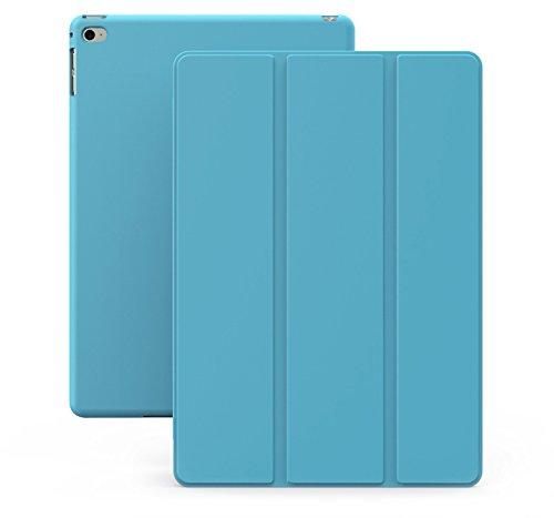Cover iPad Mini 4 - KHOMO Custodia Blu Azzurra Doppia Smart Cover piú Back Cover Dual Case Ultra Sottile e Leggera con Supporto per il Nuovo Apple iPad MINI 4