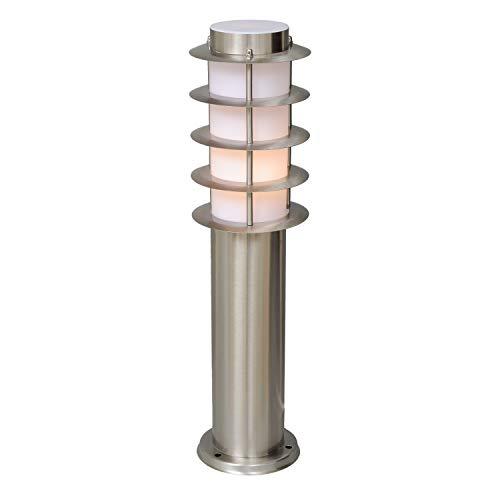 DeMarkt 809040601 Lampione da Terra Esterno Moderno acciaio inossidabile da Giardino Veranda E27 1 x 40W
