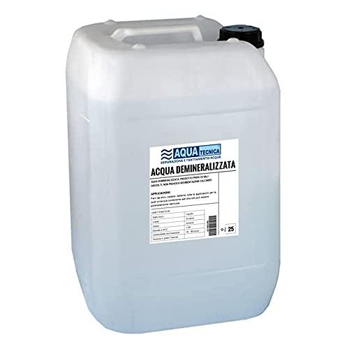 Aquatecnica® - Acqua demineralizzata 25 Litri per Uso Professionale