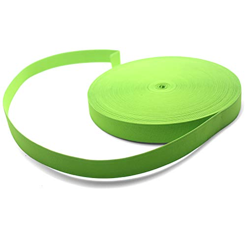 Yzsfirm 1 Inch High Elastic Band,30 Yards Elastic Spool Knit Bands Light Green Braided Band for Sewing and Hair Wigs with Heavy Stretch