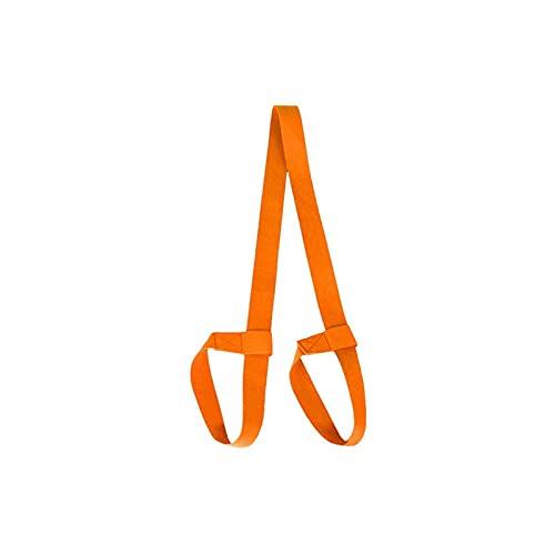 Heigmz yjd - Correa ajustable para yoga y yoga, correa ajustable, correa para el hombro, correa elástica para ejercicio, fitness, yoga, color naranja