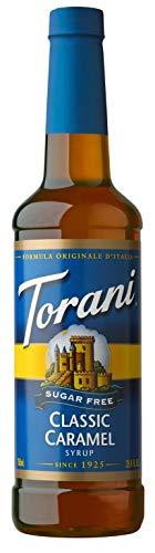 Torani Sugar Free Syrup, Classic Caramel, 25.4 Ounces