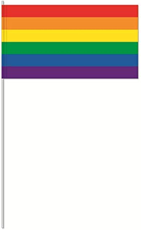 Generisch 1000 Regenbogen Rainbow Streifen Papierfahnen Papierfhnchen 12x24 cm