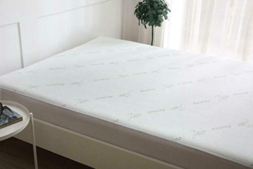 Waterproof Mattress Protector Bamboo Hypoallergenic Fitted Bed Cover (Single)