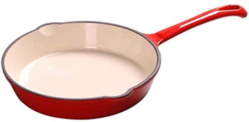 Sartén para freír Pan para freír Integrado Cacerola de Acero Inoxidable Pan sin Palanca Anti-rasguño Apto para Uso de Cocina Woks & Stir-Fry Pans (Color: Rojo, Tamaño: 20x20cm)