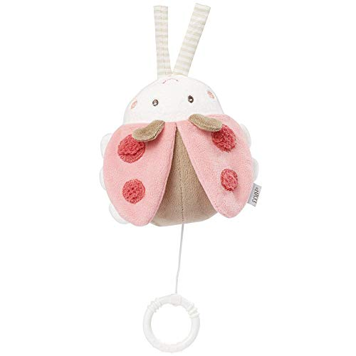 Fehn 068030 Spieluhr Käfer / Aufzieh-Spieluhr mit herausnehmbarem Spielwerk zum Aufhängen, Kuscheln und Greifen, für Babys und Kleinkinder ab 0+ Monaten