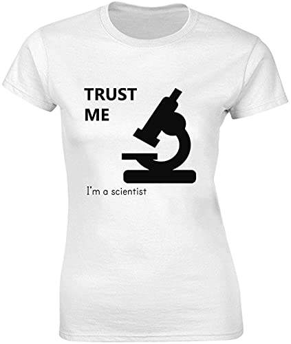 Trust Me I'm A Scientist Damen T-Shirt bnft Gr. M, weiß