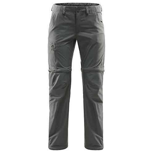 Haglöfs Lite Pantalon Convertible par Zip Femme, Magnetite Modèle EU 44 2020