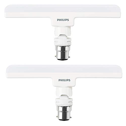 PHILIPS 10Watts B22 LED Cool Day Light Bulb, Pack of 2 (Stellar Bright)