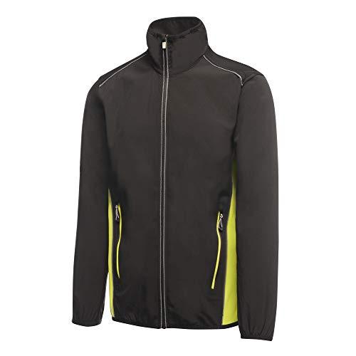 Regatta Herren Sweatjacke Sochi Softshell, Schwarz (Black/Lime Zest 171), Medium (Herstellergröße: M)