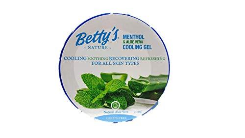Betty\'s Nature Menthol & Aloe Vera Cooling Gel Kühlendes Hautgel erfrischende Hautpflege 300 ml