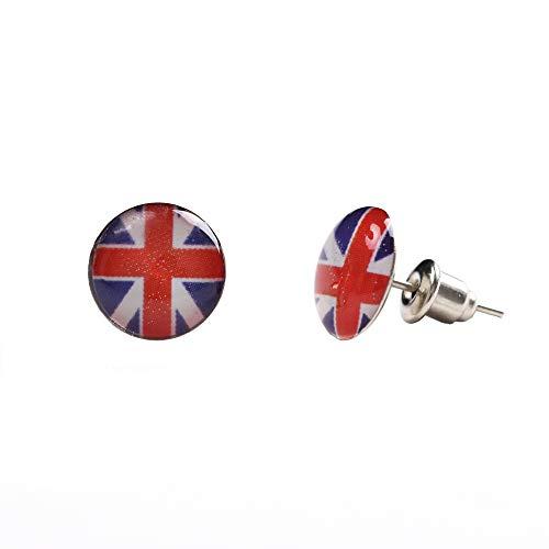 Großbritannien Fahne GB UK Union Jack Flagge Unisex Ohrringe Klein Studs (Earrings)