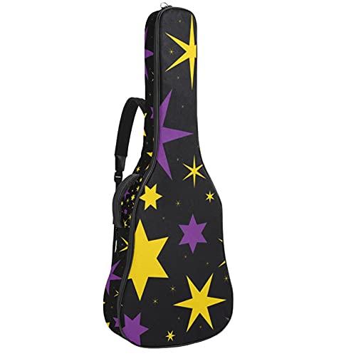 Bolsa para guitarra con diseño de estrella mágica, color morado y amarillo,...