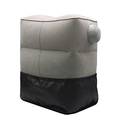 Faules Sofa Lazy Couch Inflatable-Fuss-Auflage |Reise Artifact |Tragbare Falten Fußbank |Flugzeug Auto High-Speed-Schiene Sleeping Fernreise Wesentliches |Blau, Grau mwsoz (Farbe: blau) SLOW-Sofa.