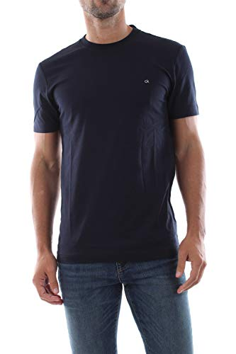 Calvin Klein K MW K10K104061 Camiseta para hombre 407 Calvin Navy