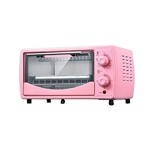 Z&L Mini Horno, Horno Eléctrico Multifunción para Uso Doméstico, Capacidad 12L-19L, Acero Inoxidable Duradero Y Resistente Al Calor,Pink,12L
