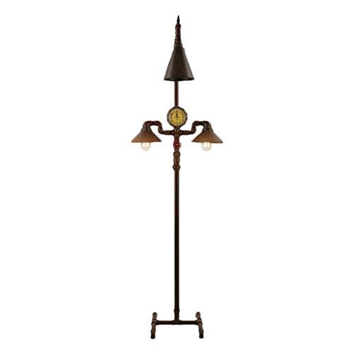 DIEFMJ lámpara de pie Lámpara de pie Retro Iluminación de Estilo Industrial Estilo Europeo Comedor de Invitados Dormitorio Sala de Estudio Lámpara de pie de tubería de Agua de Hierro nostálgico