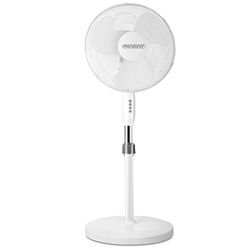Deuba Standventilator Ventilator Luftkühler Klimagerät Gebläse 90° oszillierend mit 3 Geschwindigkeitsstufen Ø 43cm höhenverstellbar
