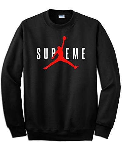 Artist - Sudadera con estampado Supreme Michael Jordan 23 - Color negro, estampado en color rojo - No original Negro