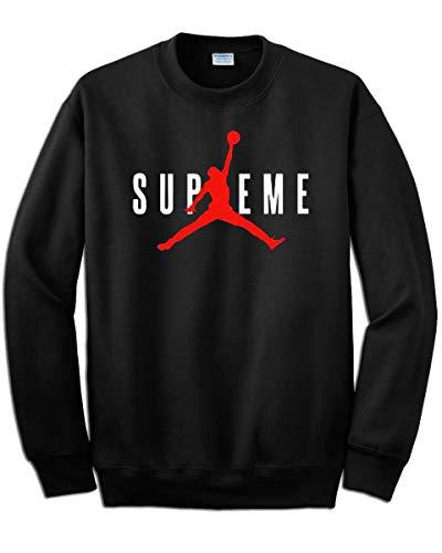 Artist - Sudadera con estampado Supreme Michael Jordan 23 - Color negro, estampado en color rojo - No original Negro L