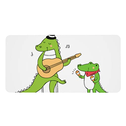 Little Alligator - Alfombrilla antideslizante para mesa de ratón, funda protectora de escritorio, gran tamaño para escritorio, decoración de papel, cuaderno de escritura, 40 x 80 cm