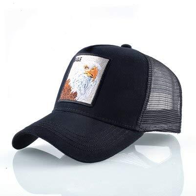 Gorras de algodón Unisex para Hombres Gorra de béisbol Gorras de Camionero de Malla Transpirable para Mujer-Eagle BK