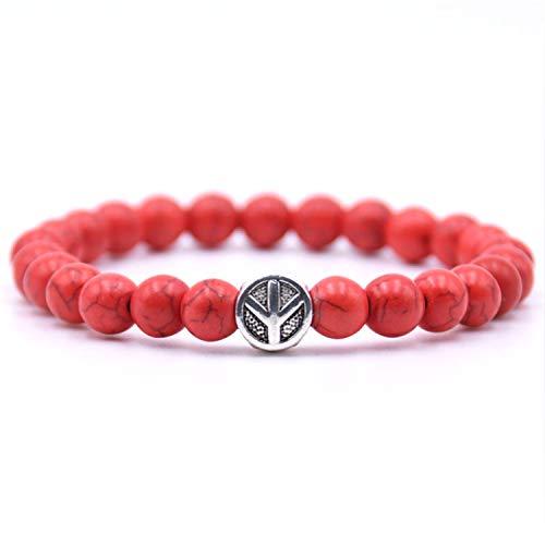 Pulsera Brazalete, Joyeria Regalo, Peace Sign Bracelet Classic Natural Stone 18 Styles Bead Bracelets For Men Women Best Friend Charm Gift New 2