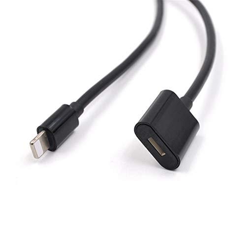 D.ragon für DJI OSMO Pocket-Verlängerungskabel (Schwarz) Extender-Dockkabel Kompatibel mit iPhone 6, 6S, 7, 8, X, iPad