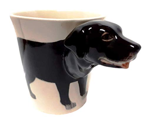 b2see Labrador-Hund-e-Tasse 3D Tier Tasse-3d-mit-Hund-emotiv Hunde-Kopf-Bild 8 x 13 x 10 cm