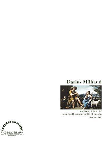 Darius Milhaud-Pastorale - Bois de piel, clarinete y oboe bajo, clarinet y bassoon-SCORE