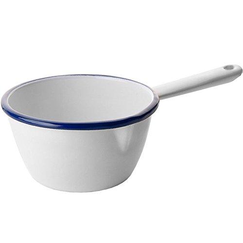 IBILI Stielkasserolle Blanca konisch 10 cm in weiß/blau, Stahl