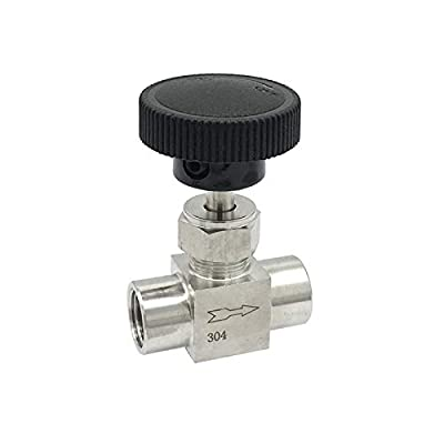 """DINGGUANGHE 1/8 1/4 1/2 Inch NPT Female Needle Valve 304 Stainless Steel Flow Control Water Gas Oil NPT Valves (Thread Specification : 1/8"""") by DINGGUANGHE-US"""