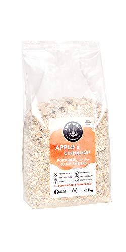 Seedheart Bio-Superfood Porridge Apfel Zimt 1kg ohne Hafer | Glutenfrei | Kein Getreide | Ohne Zucker | Buchweizen Lupinen Hirse Amaranth Quinoa