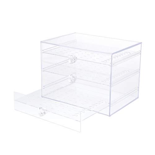 Schmuckschatulle für Damen, Acryl Schmuckkästchen mit 3 Schubladen Schmuckkasten zur Schmuck Aufbewahrung, Transparent - klar