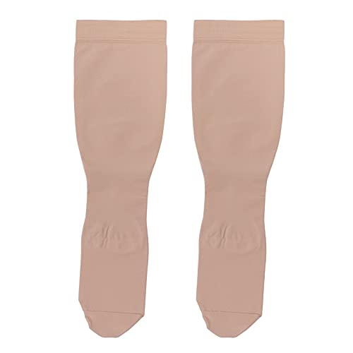 Medias de compresión 23-32 mmHg Medias de compresión elásticas para el dolor, hinchazón, alivio de las venas varicosas, punta cerrada, hasta la rodilla(XL)