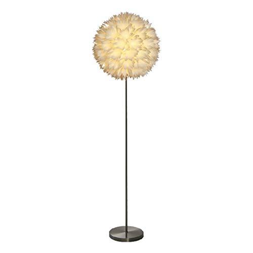 Staande lamp Prime, duurzaam, eenvoudig, met kunststof bloemen, lampenkap, warm licht, prachtige woonkamer van metaal, slaapkamer, hallamp
