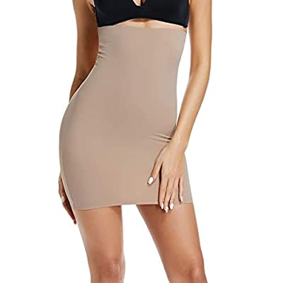Half Slips for Women Under Dress High Waist Tummy Control Top Shapewear Slimming Slip Shorts