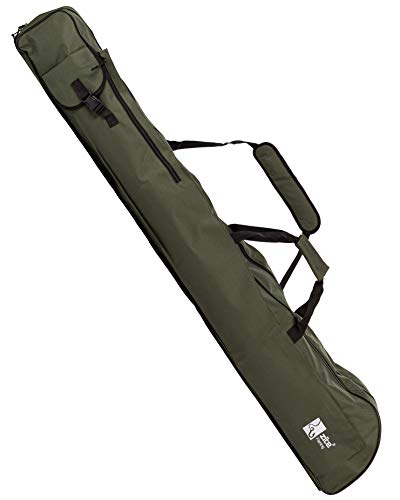 Zite Fishing - Funda para cañas de pescar (150 cm, con compartimento para sombrilla y red de pescar, asas y correa para el hombro)