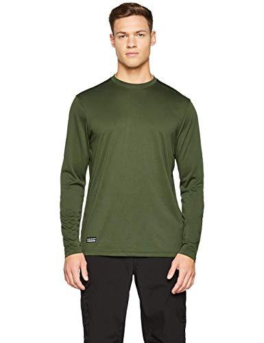 Under Armour UA TAC Tech LS T Camiseta de Manga Larga, Hombre, Verde (Marine Od Green/None), L