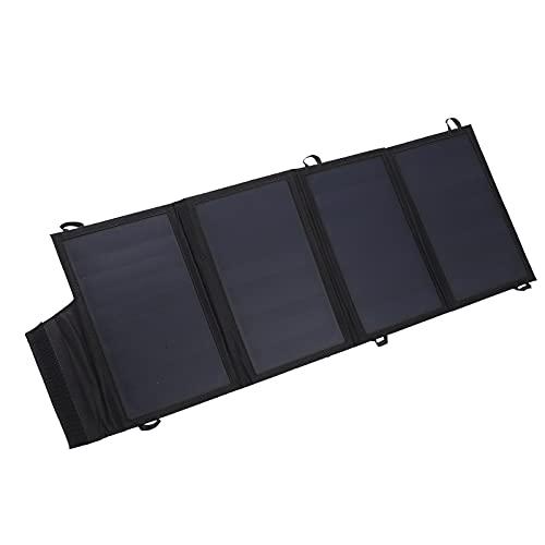 XIAOHUANG Cargador Solar de 22 W, Banco de energía Solar portátil y Plegable con Puertos USB Dobles para Acampar al Aire Libre, Senderismo, Viajes
