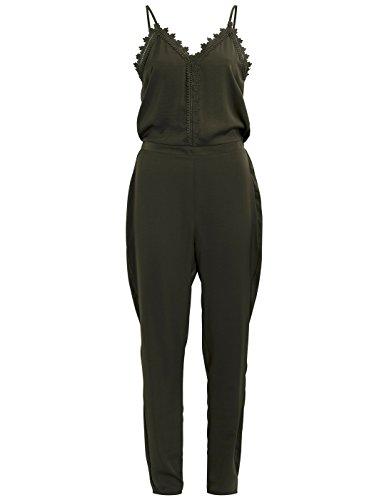 Vila Clothes Damen Vilany Jumpsuit, Grün (Ivy Green), 34 (Herstellergröße:XS)