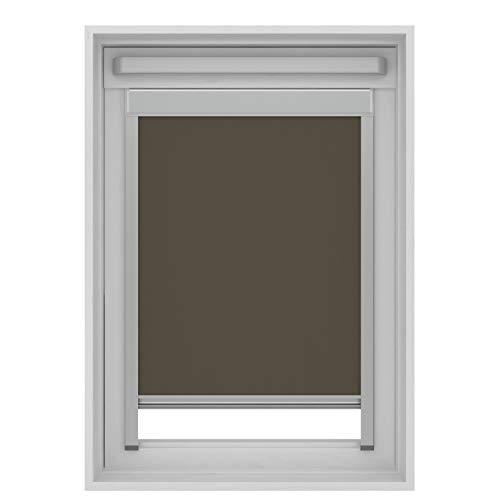 Estor opaco compatible con ventanas de techo Velux (Taupe, U04/804/7)