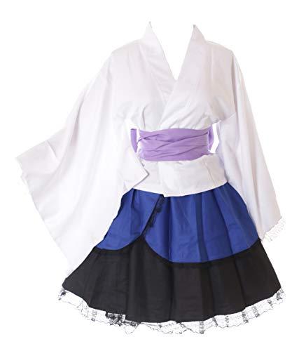 Kawaii-Story Disfraz de kimono MN-80 Uchiha Sasuke Naruto blanco y azul Wa-Qi Lolita japons, disfraz de cosplay (XXL)
