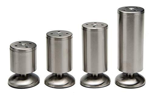 Möbelfüße aus Edelstahl in 4 Größen zum auswählen 80mm, 100mm, 120mm,150mm (120mm)